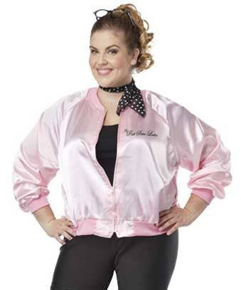 1ae9cb89219eb Women s Grease Pink Ladies Plus Size Costume Close Up