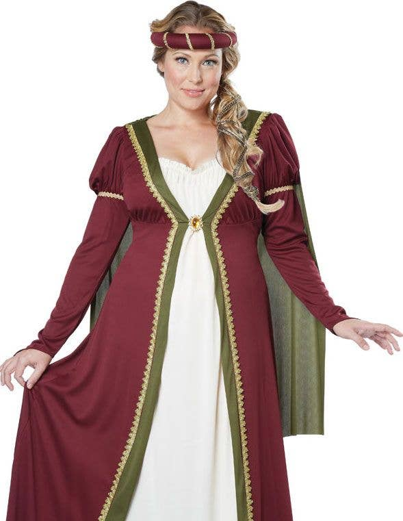 Plus Size Medieval Costume Renaissance Queen Womens Costume