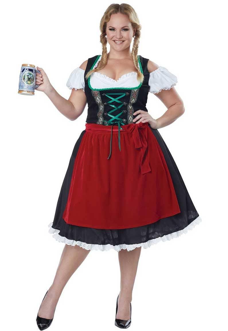 e2c7c120c7479 Plus Size Women s German Beer Girl Oktoberfest Costume Main Image