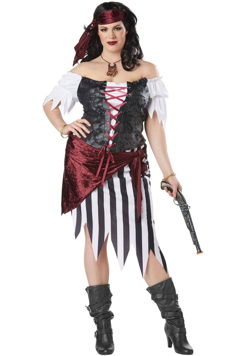 c3b815205 Plus Size Beauty Pirate Women's Fancy Dress Costume Main Image
