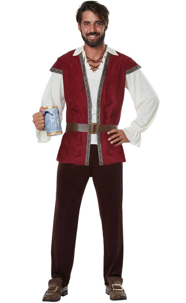 Plus Size Men\u0027s Medieval Man Fancy Dress Costume Main Image