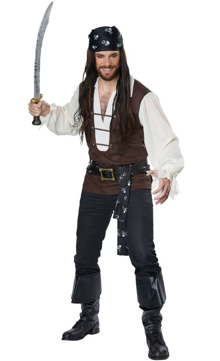 1b8086b6 High Seas Adventurer Pirate Plus Size Men's Costume