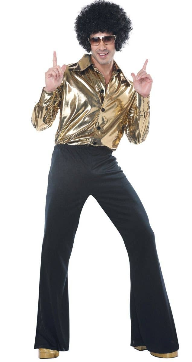 1970\'s Disco King Plus Size Men\'s Fancy Dress Costume