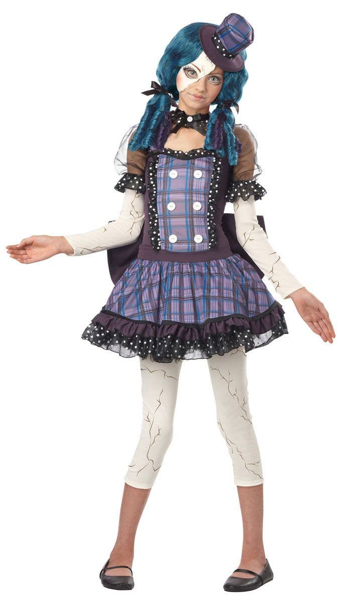 06f101153a366d Teen Evil Dolly Costume | Girls Broken Doll Halloween Costume