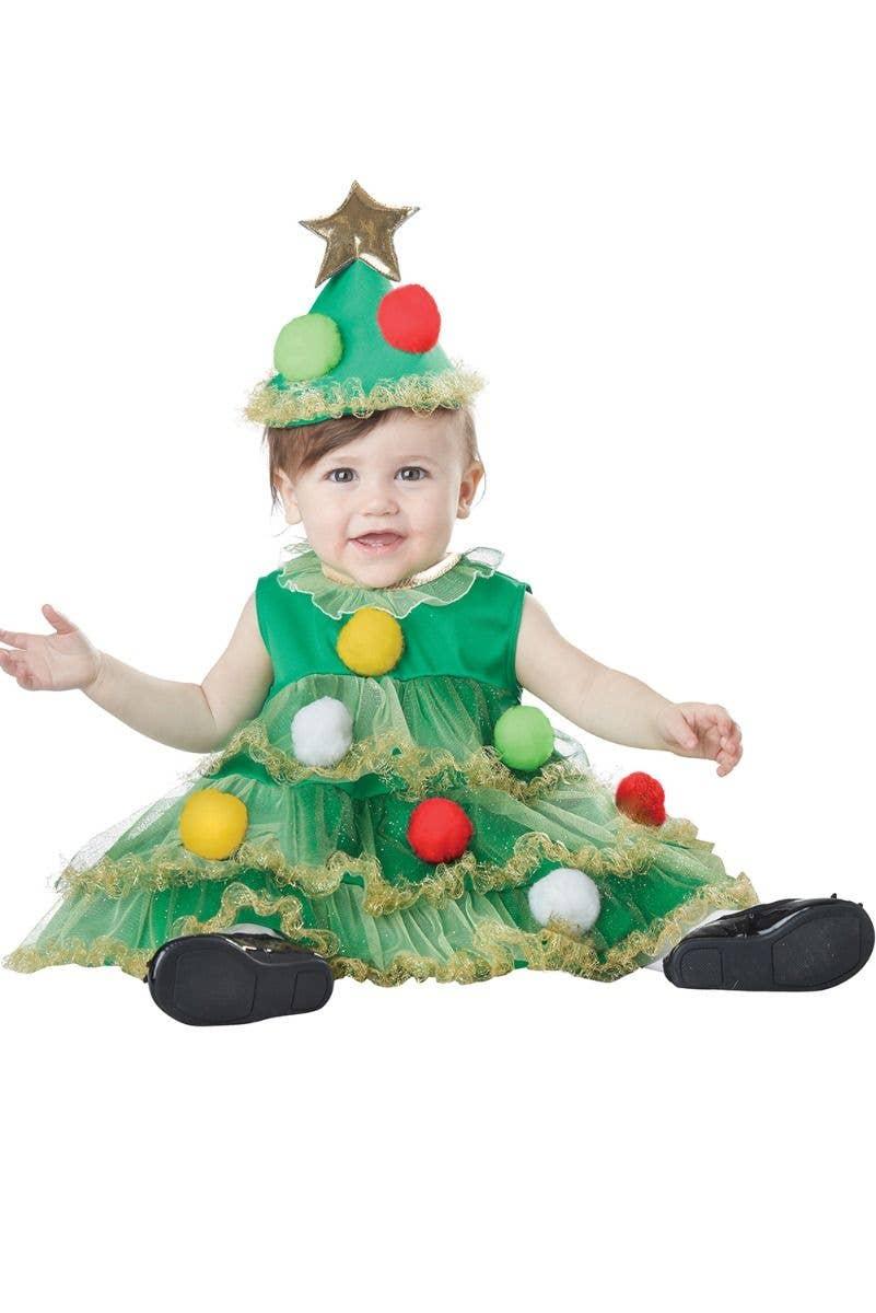 Baby Christmas Tree Fancy Dress Green Infant Christmas Tree Costume