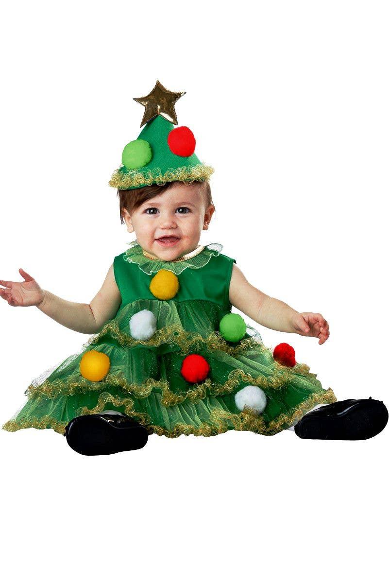 Christmas Tree Costume.Lil Christmas Tree Baby And Infant Christmas Fancy Dress Costume
