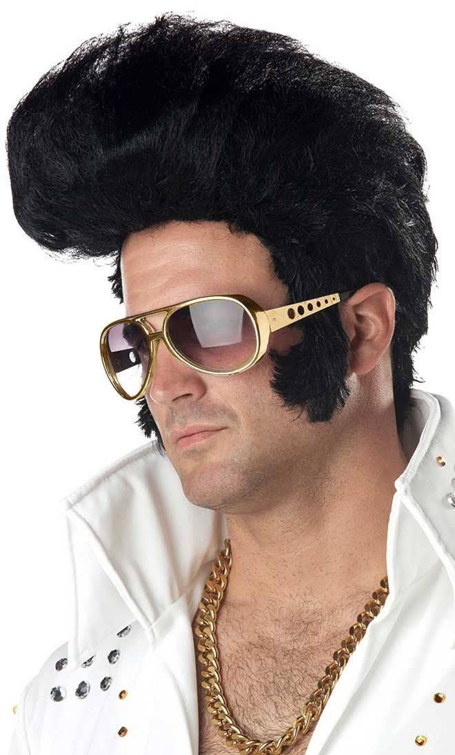 Elvis Presley Men s King of Rock Costume Wig bcf3772111e8