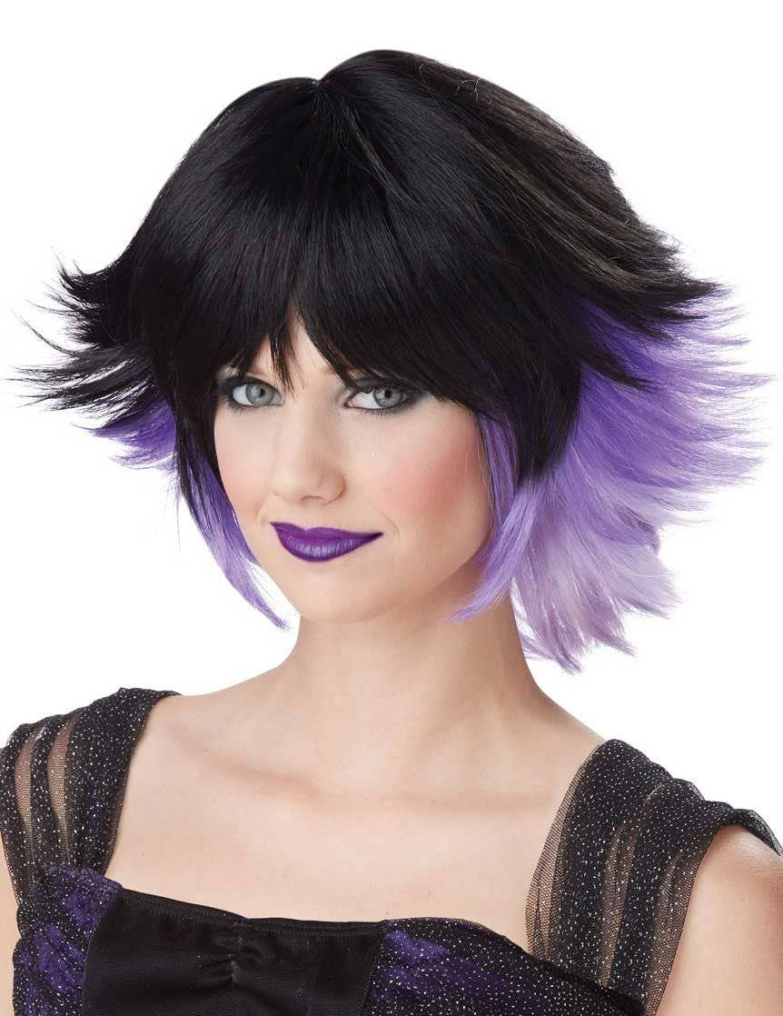 Women s Bad Fairy Purple And Black Costume Wig 93af3794f