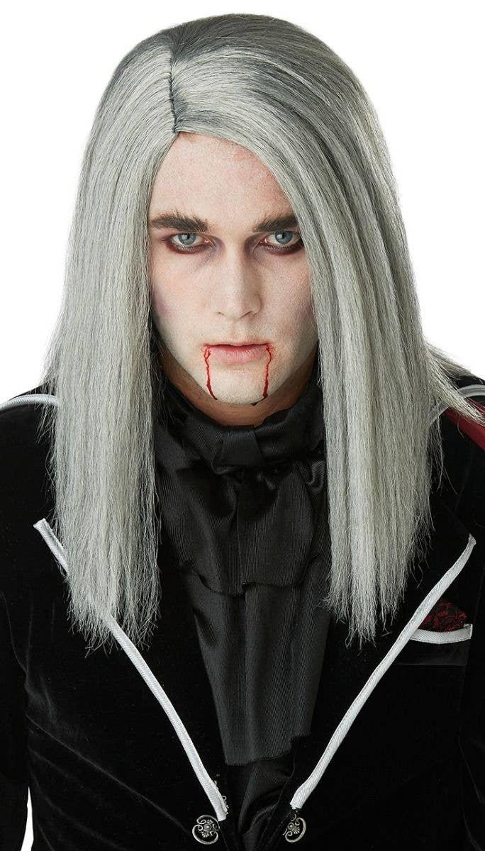 Halloween Wig   Men S Bloodthirsty Vampire Grey Wig Halloween Costume Wigs
