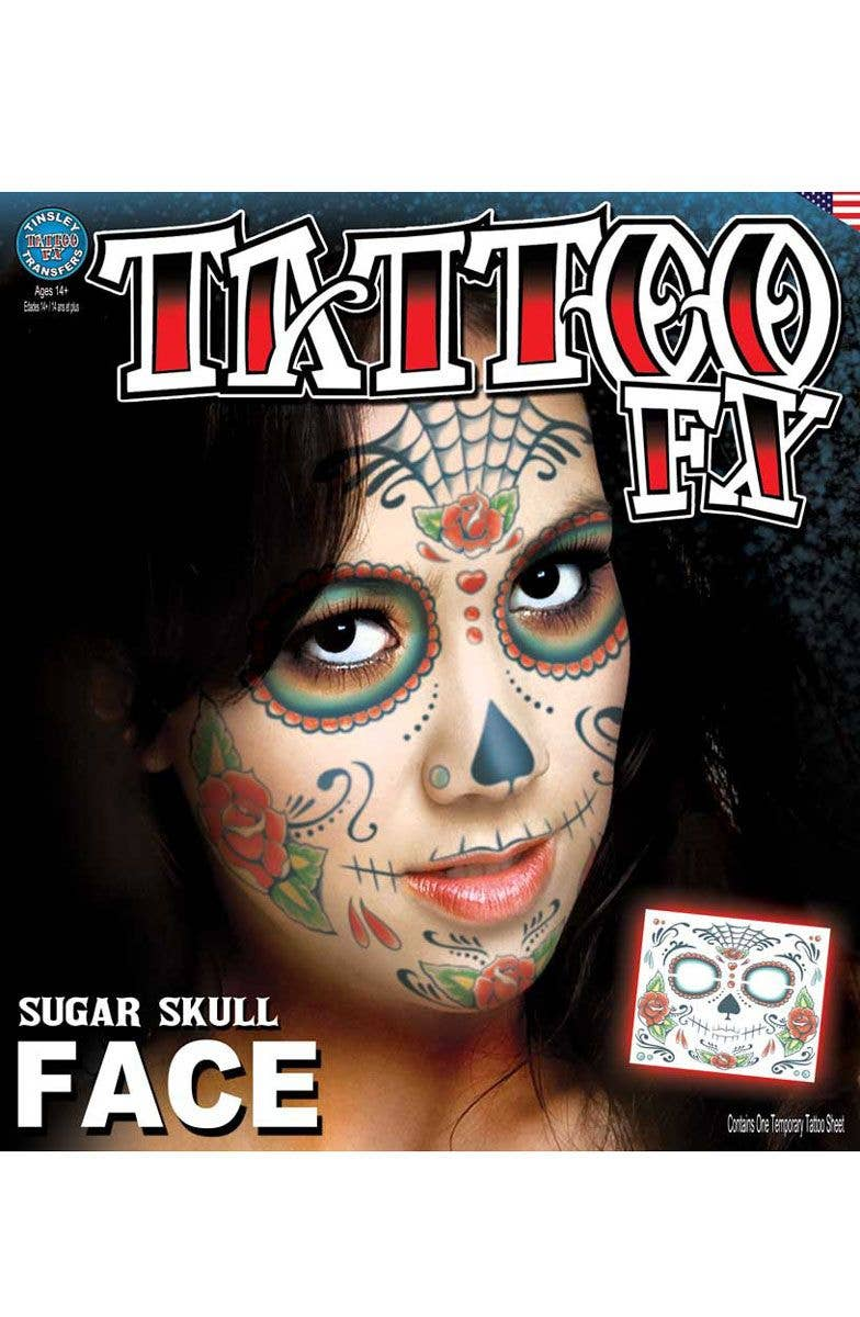 64e15210c Sugar Skull Women's Face Makeup | Mexican Temporary Face Tattoo