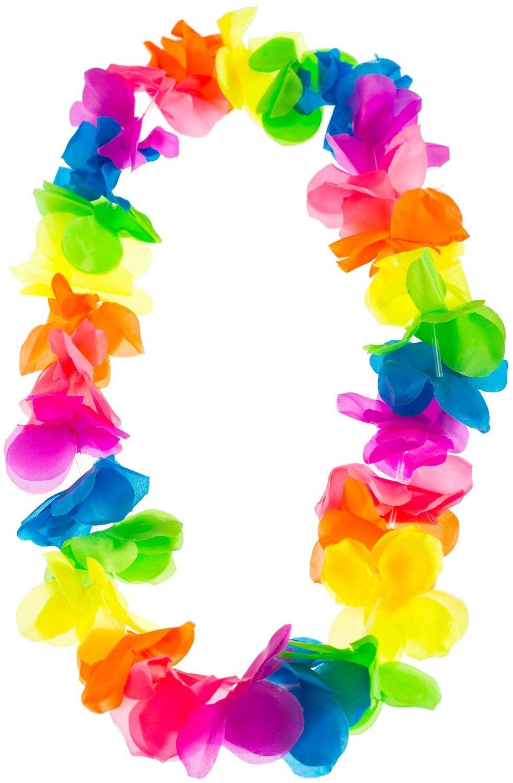 214035513 Hawaiian Flower Lei in Bright Colours | Neon Coloured Hawaiian Lei