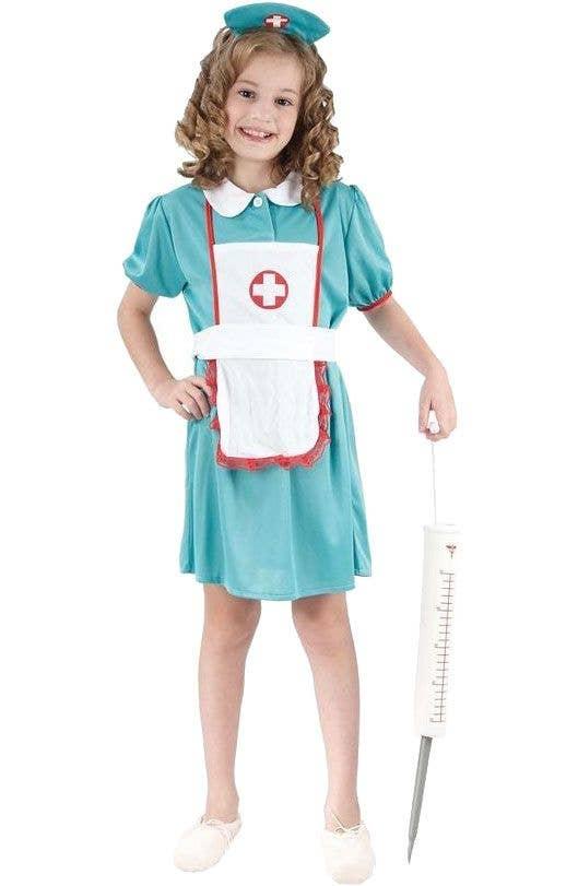 10bcf01ea72 Cute Vintage Nurse Girls Costume