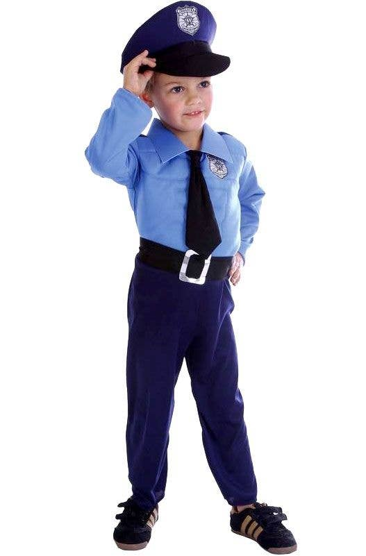 1ac0c943a54 Toddler Policeman Fancy Dress Costume Front View