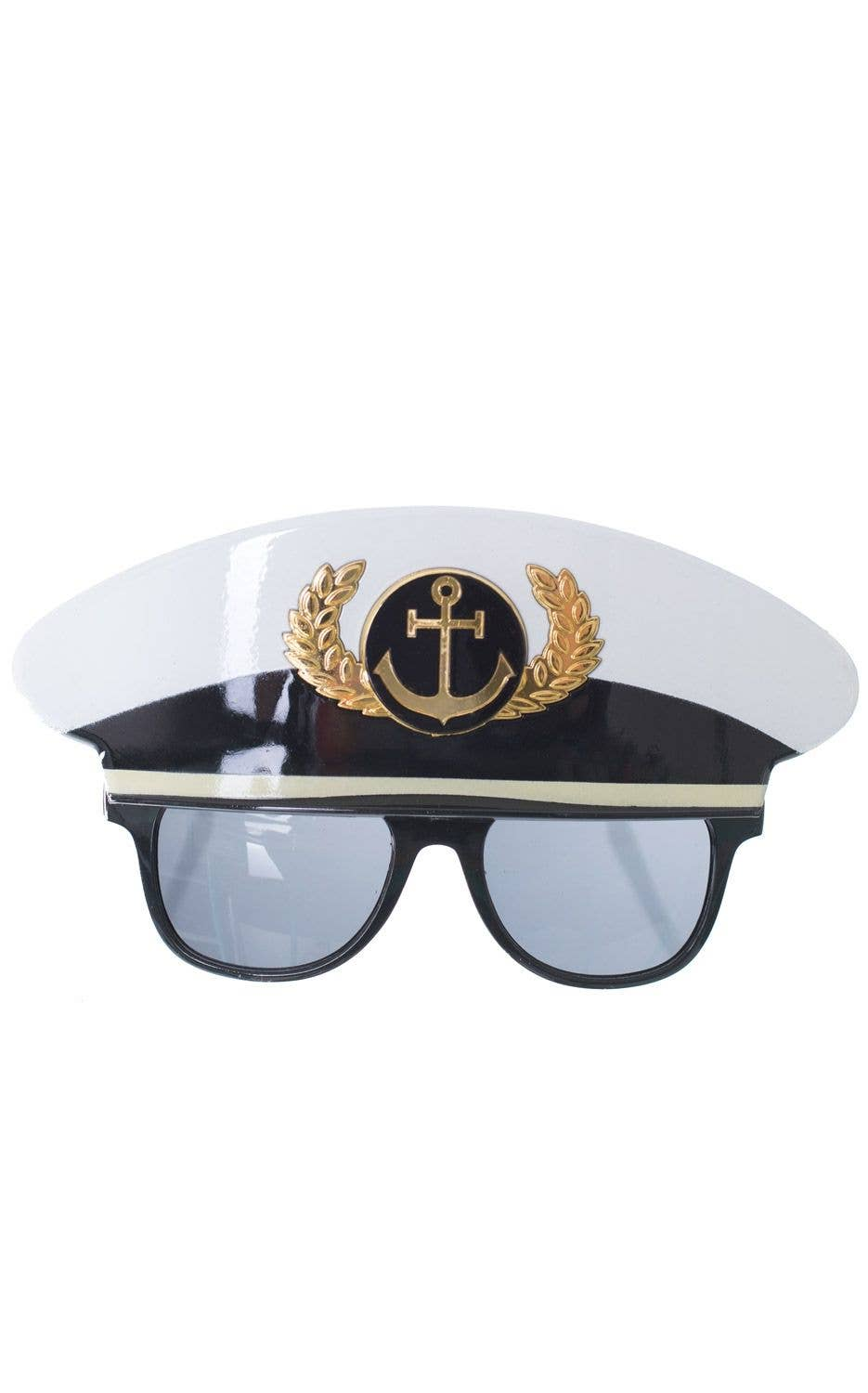 5b9421cd19d Black And White Crown and Anchor Sailor Hat Glasses