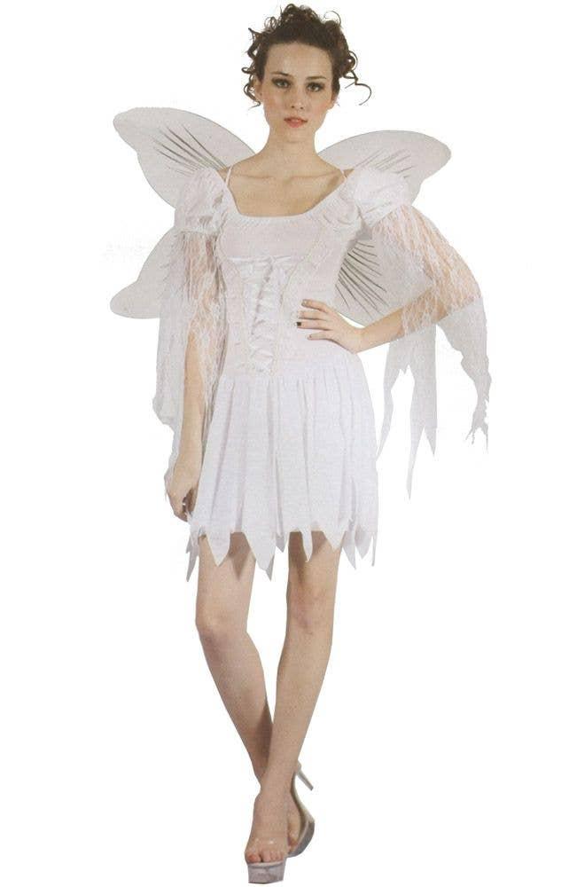 Women's White Christmas Angel Fancy Dress Costume - White Christmas Angel Women's Costume Christmas Angel Costume