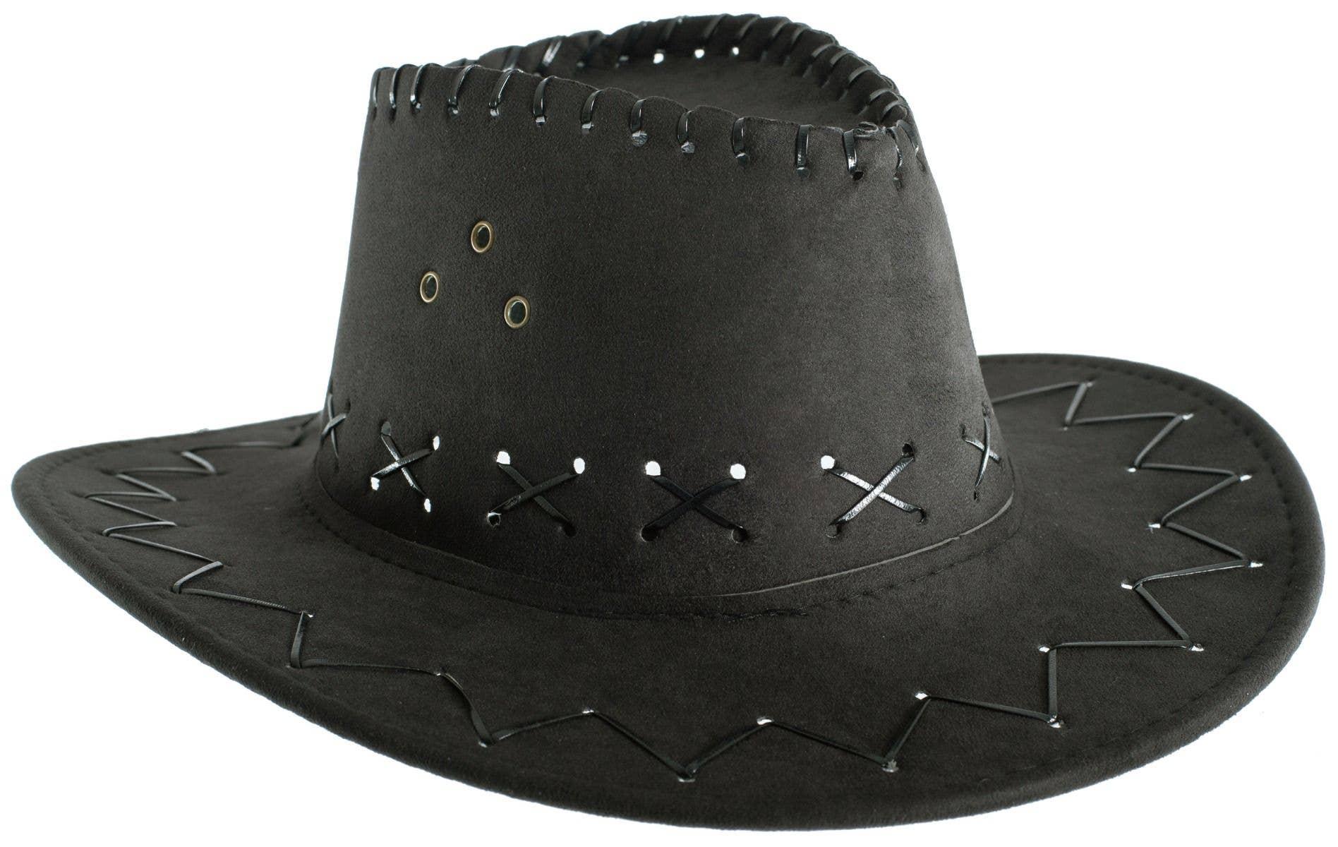 4f65298276d Black Kids Boys girls Cowboy Outback Costume Accessory Hat Close Image