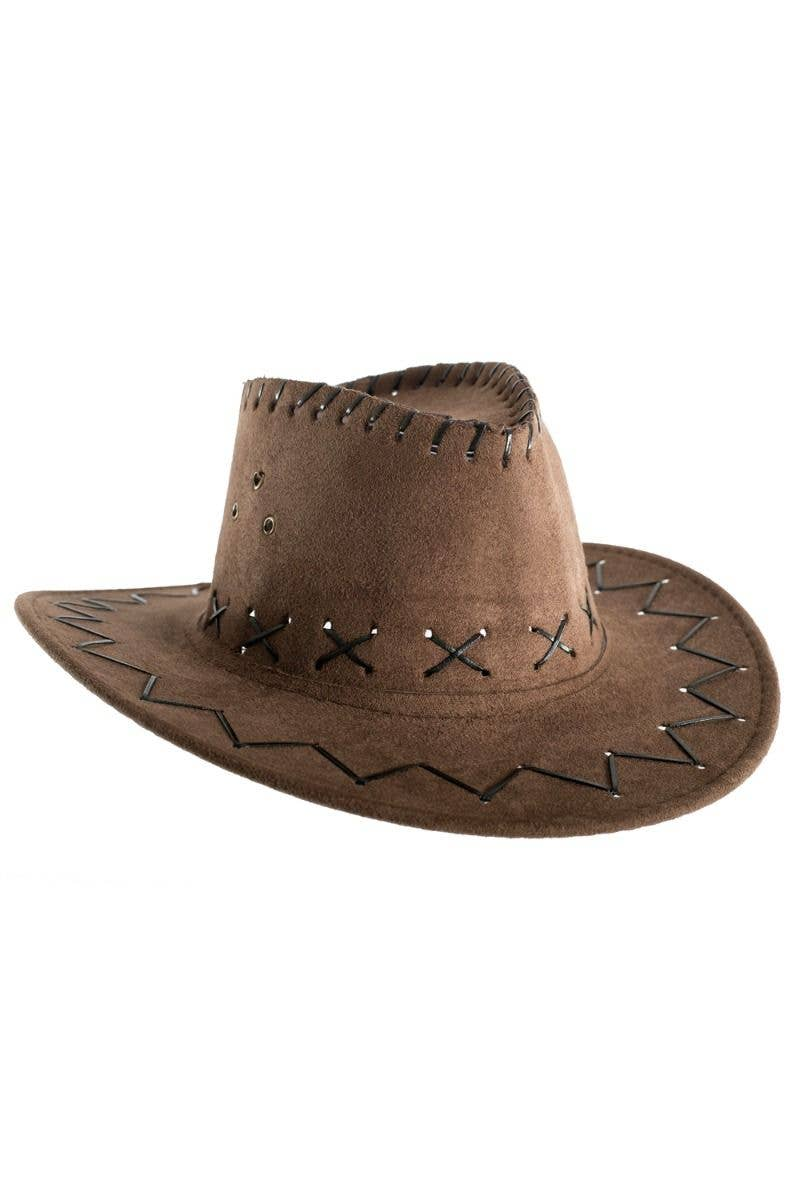 a4612eb3c21a8 Brown Kids Boys Cowboy Outback Costume Accessory Hat Main Image