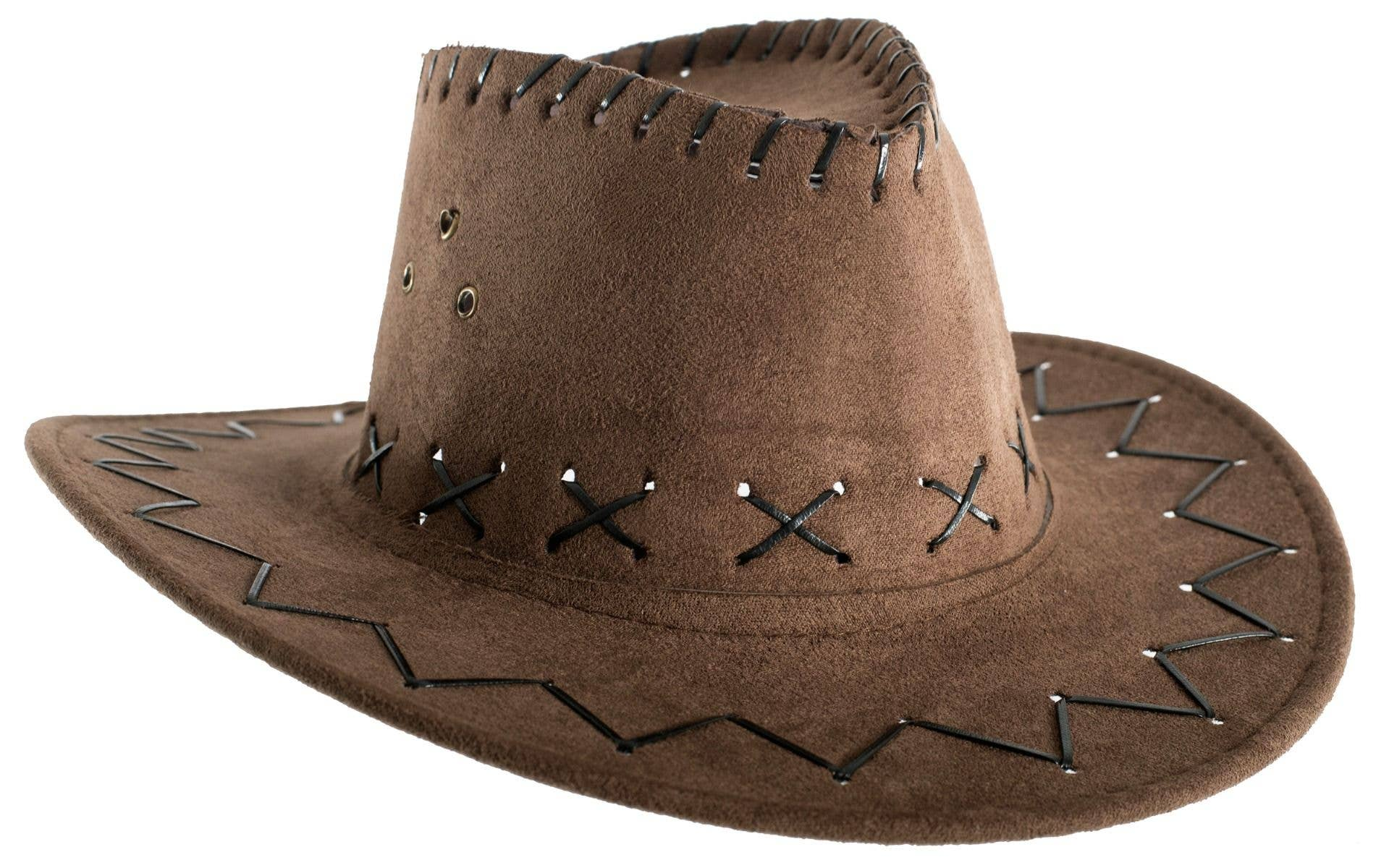 eabdcde0c66fb Brown Kids Boys Cowboy Outback Costume Accessory Hat Second Image