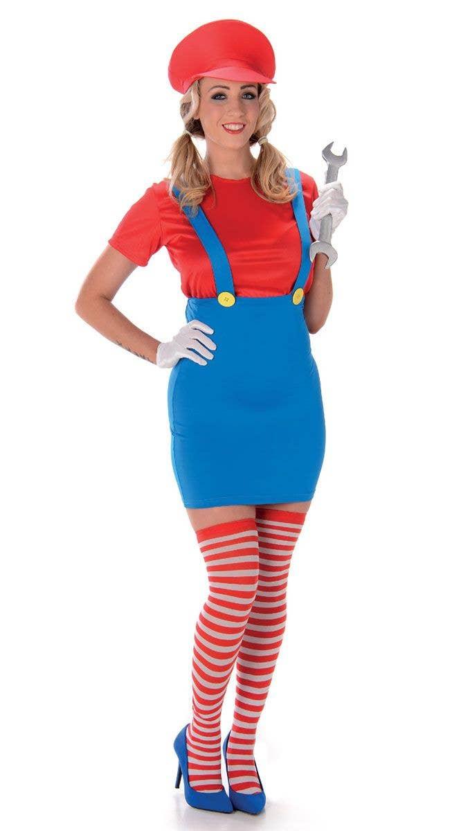96d306dd59d Mario Sexy Women's Costume | Plumber Girl Super Mario Costume