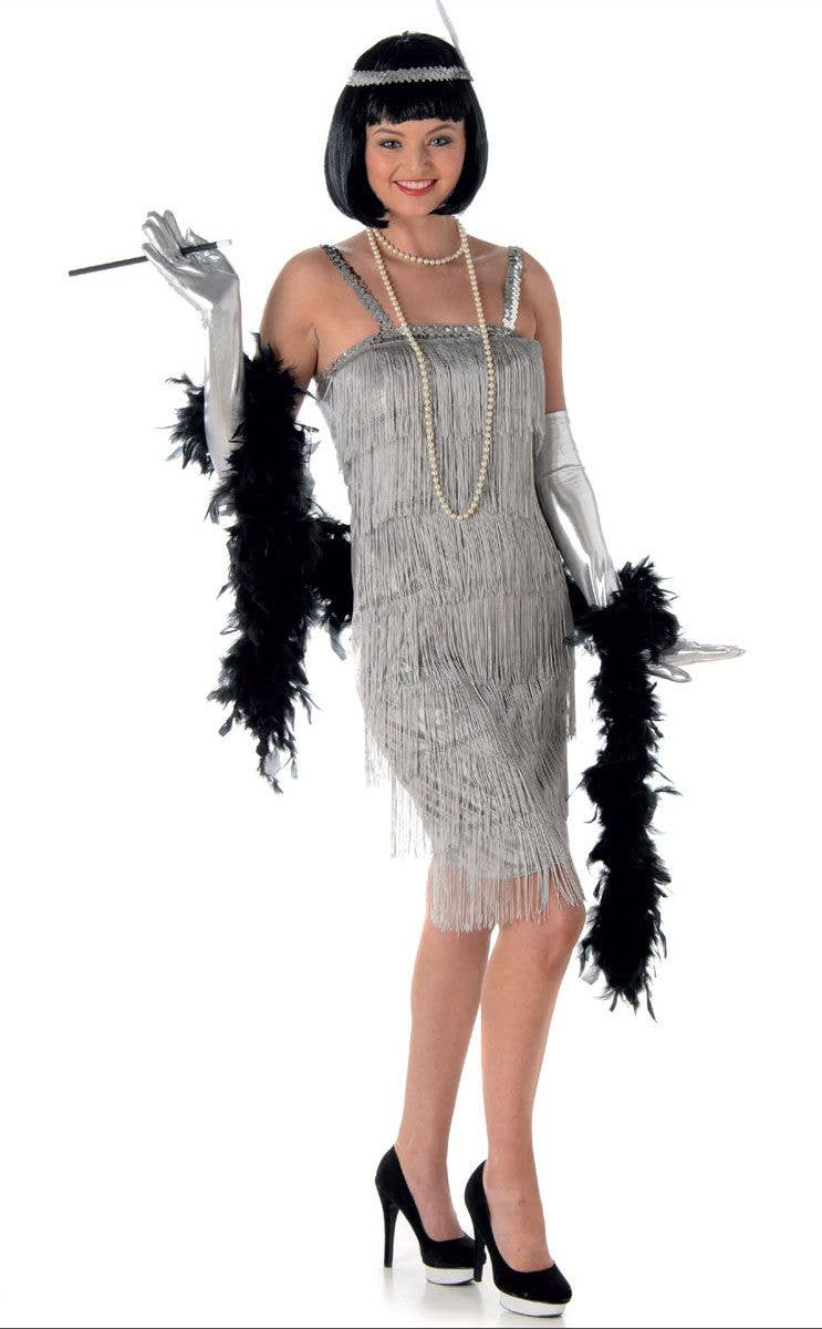 1ecd1e0d7 Silver Flapper Women s Costume