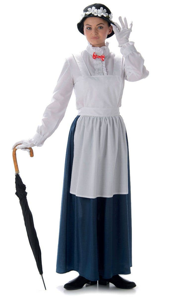 Deluxe Girls Mary Poppins Returns Costume English Nanny Book Week Fancy Dress