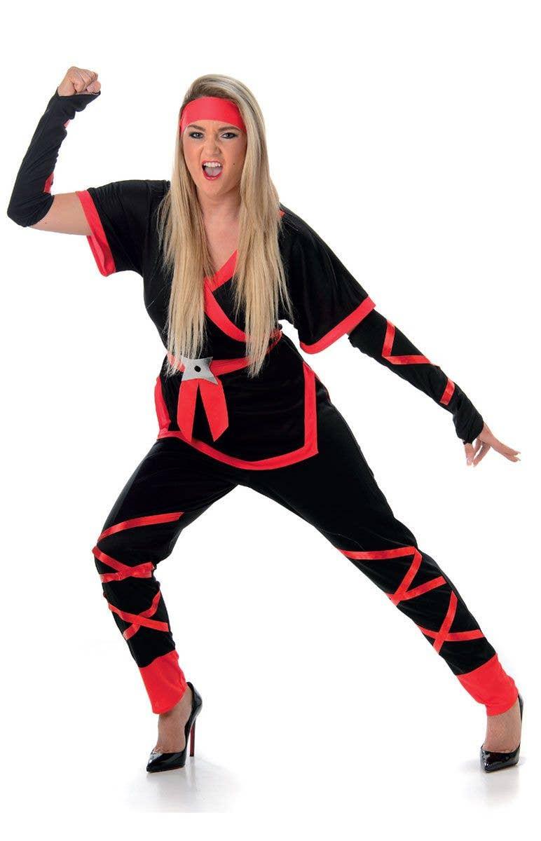 Women s Ninja Japanese Fancy Dress Costume Front View f884639831