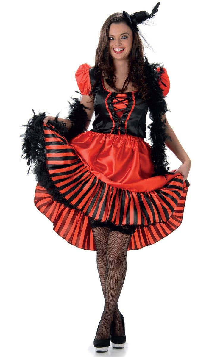 6204585f9 Womenu0027s Red Can Can Dancer Costume Main Image Sc 1 St Heaven Costumes