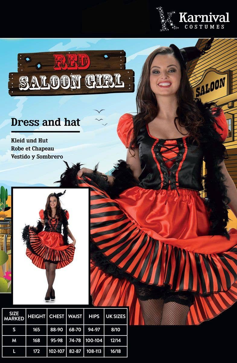 3b59c171e Women's Red Saloon Girl Costume | Saloon Girl Western Costume