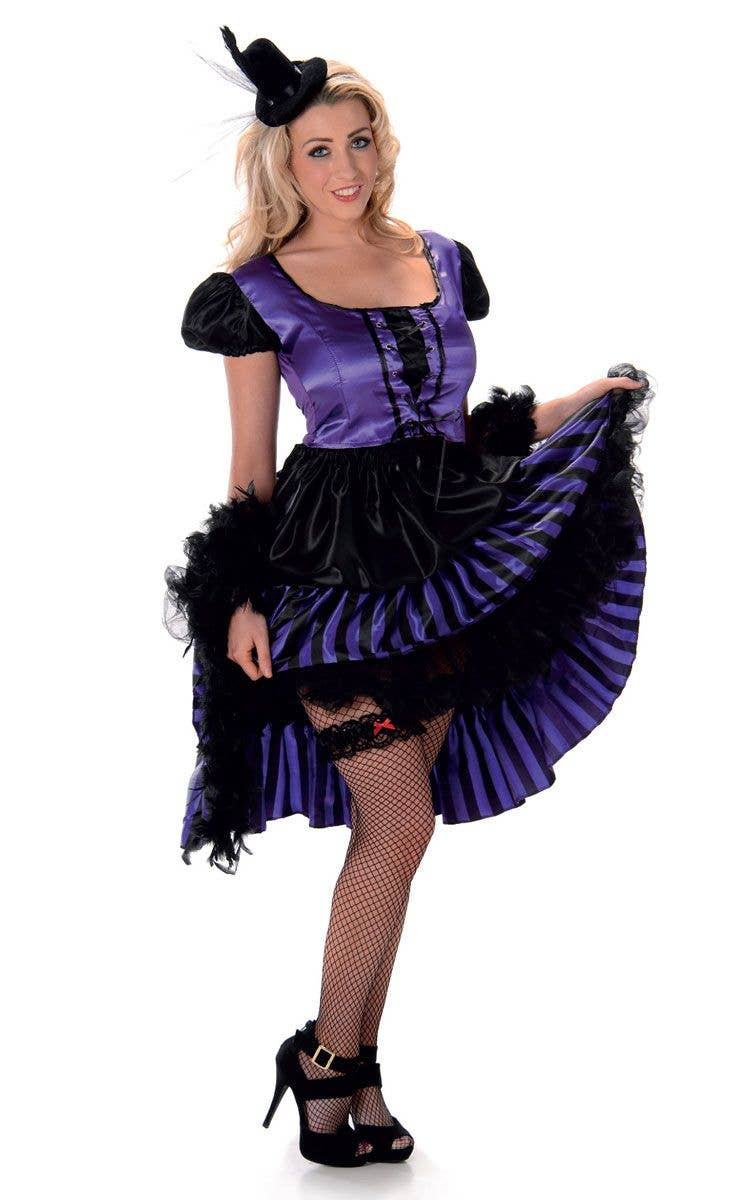 Women S Purple Saloon Girl Costume Saloon Girl Wild West Costume