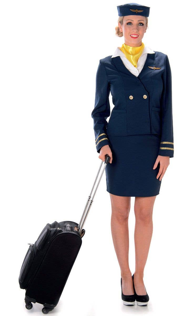 2d205fc2798 Retro Flight Attendant Women's Blue 1940's Costume