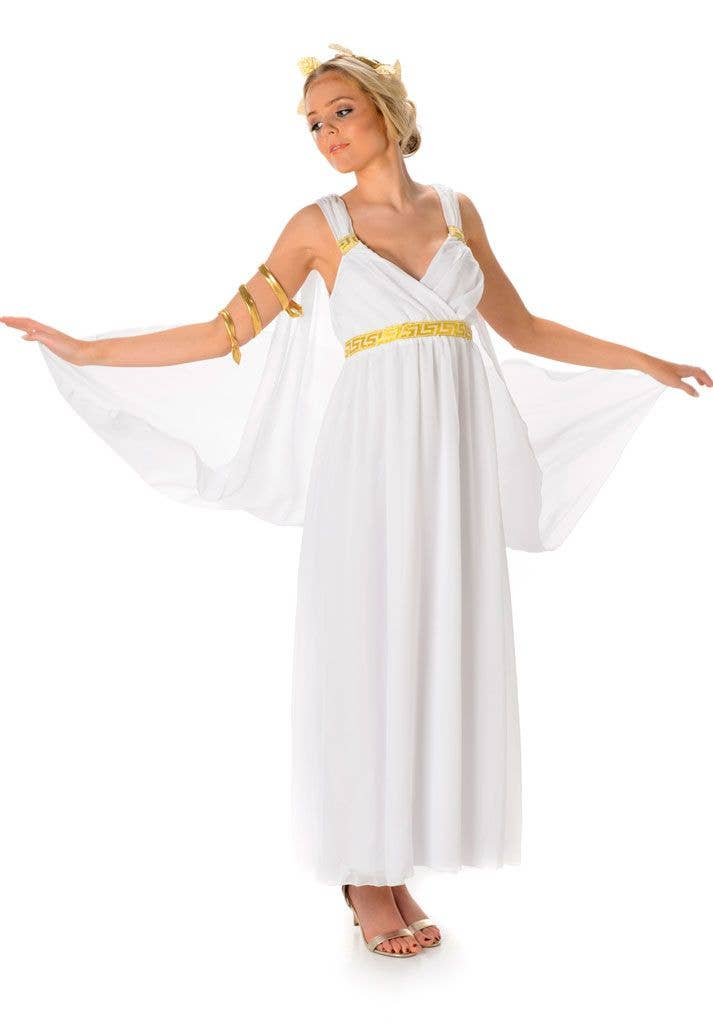 Gold and White Greek Dresses