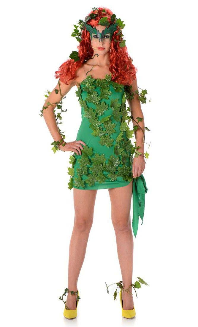 Poison Ivy Sexy Women S Costume Vine Vixen Fancy Dress Costume
