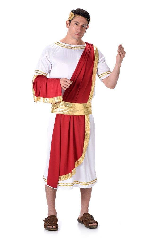 Menu0027s Roman Emperor Toga Costume Main Image  sc 1 st  Heaven Costumes & Menu0027s Julius Caesar Costume | Roman Emperor Menu0027s Toga Costume