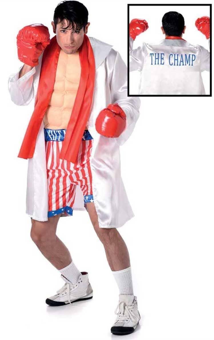 14de71a3c821 Menu0027s Ch ion Boxer Rocky Balboa Sporting Fancy Dress Costume Main Sc 1  St Heaven Costumes