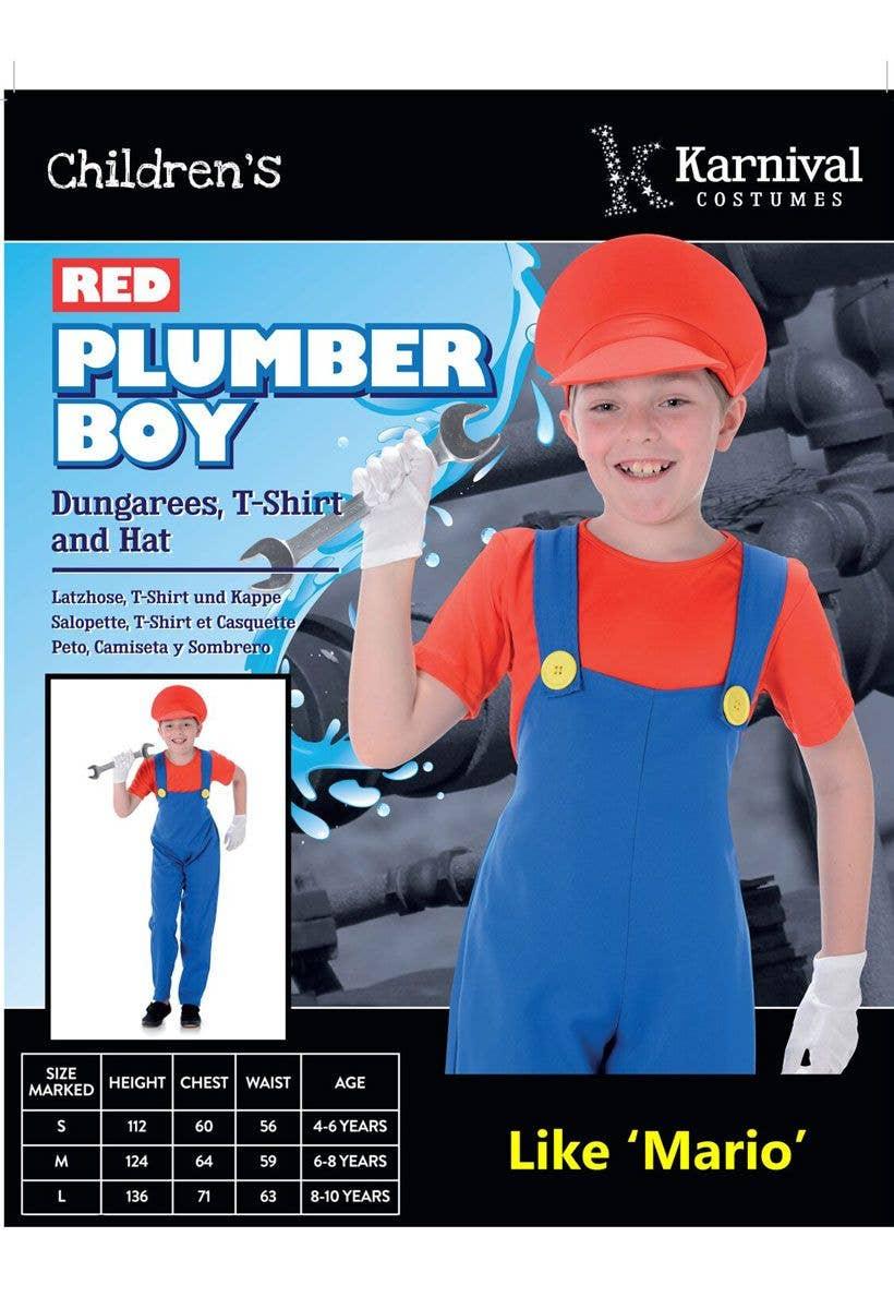 42e0c2efe32b Children's Mario Fancy Dress Costume | Super Mario Bros Kids Costume