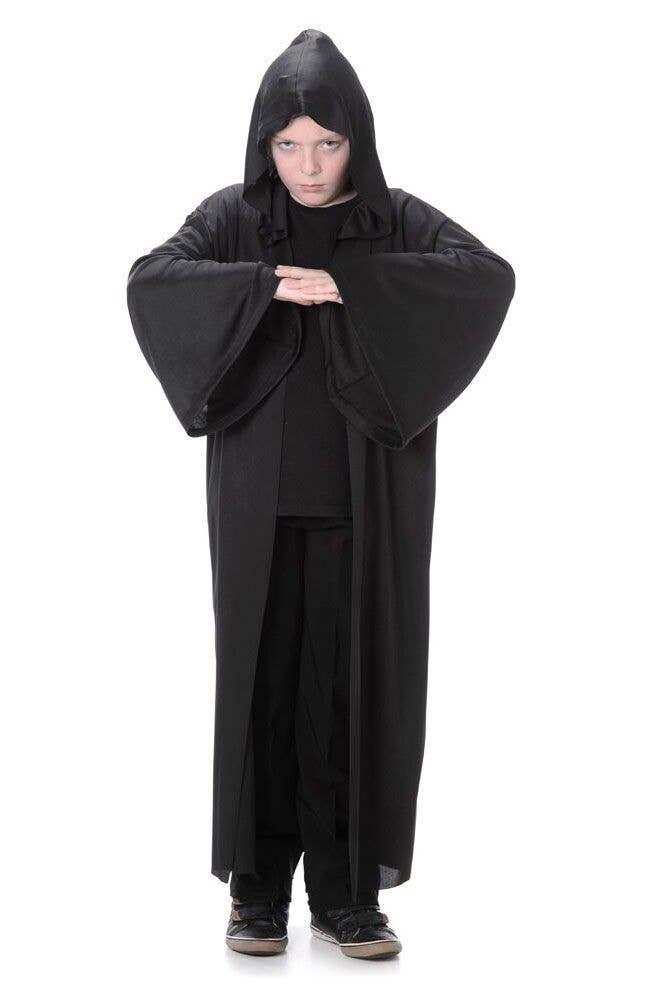 55734e2183 Black Hooded Robe Boys Halloween Costume Main Image