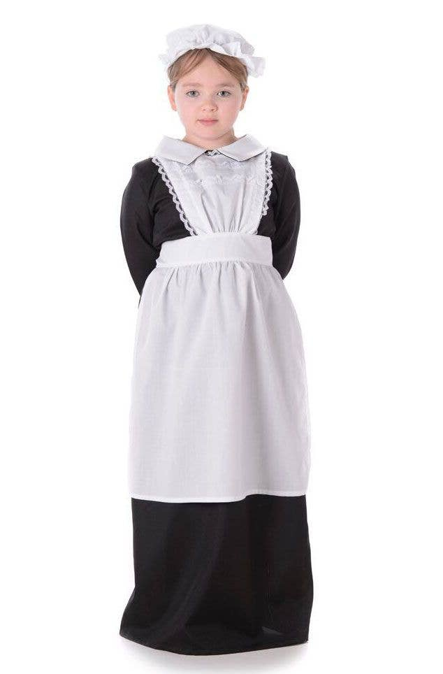 Black and White Victorian Girl Fancy Dress Costume Main Image  sc 1 st  Heaven Costumes & Victorian Maid Girls Costume | Poor Victorian Girl Kids Costume