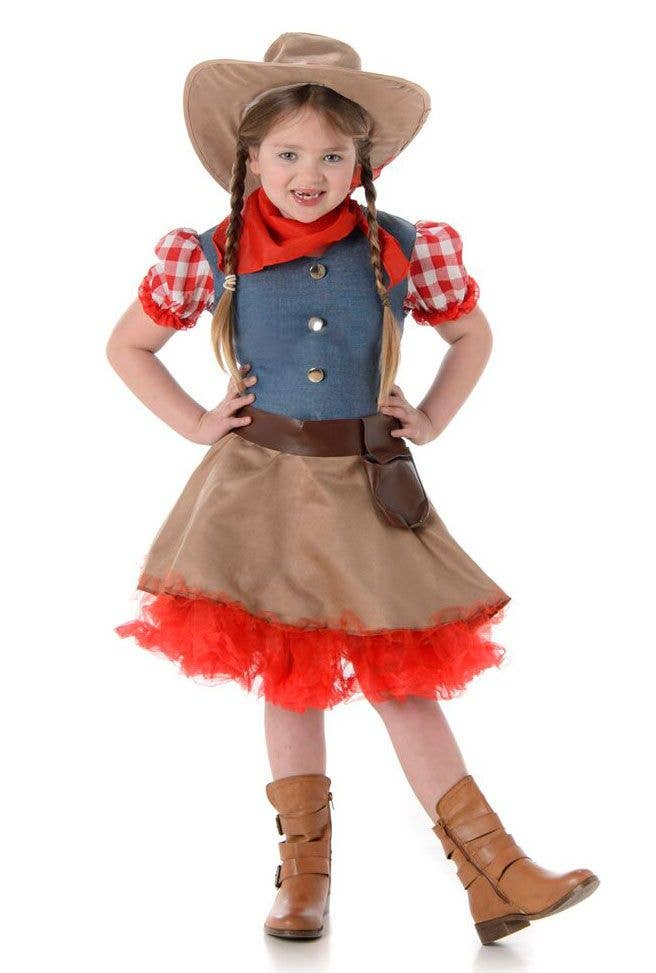 Girls Rodeo Cowboy Fancy Dress Costume Main Image  sc 1 st  Heaven Costumes & Cowgirl Kids Fancy Dress Costume | Girls Rodeo Cowgirl Costume