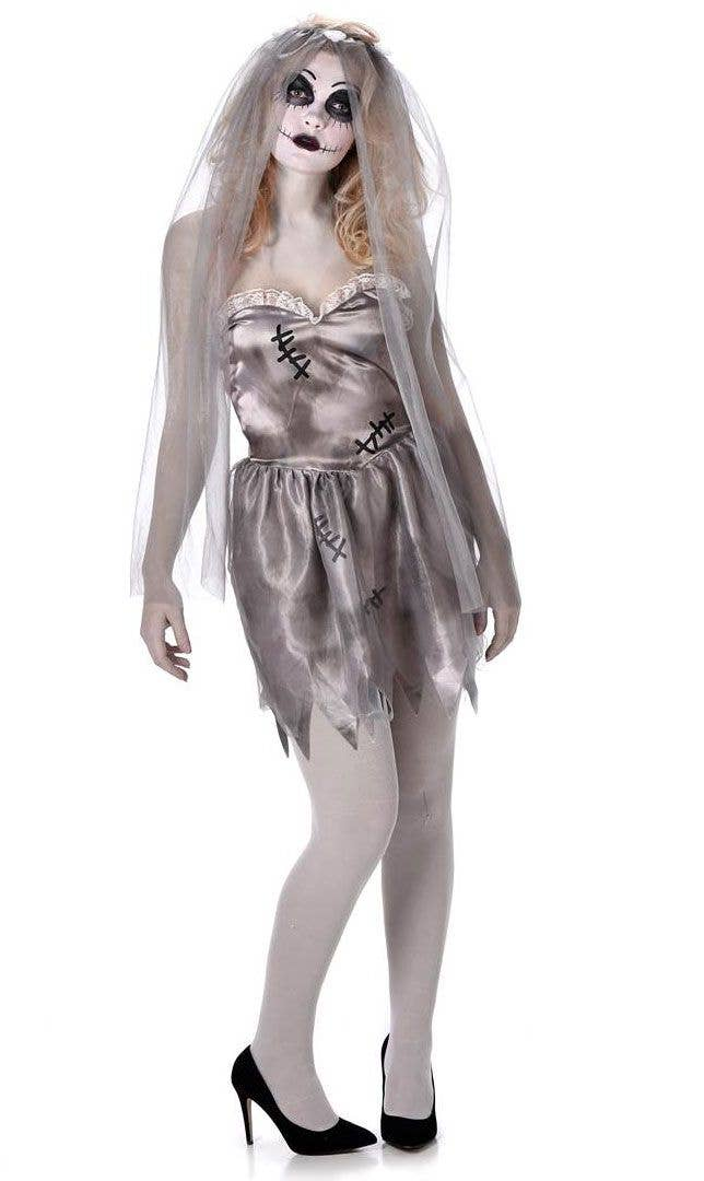 dead ghost bride womens halloween fancy dress costume
