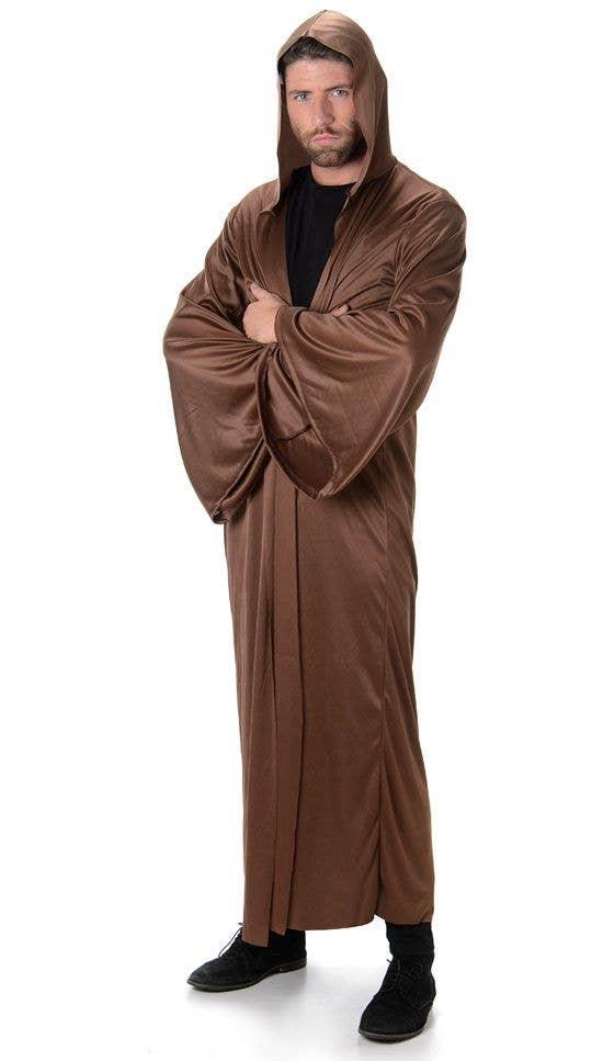 Brown Hooded Robe Men\'s Costume | Adult\'s Brown Jedi Costume Robe