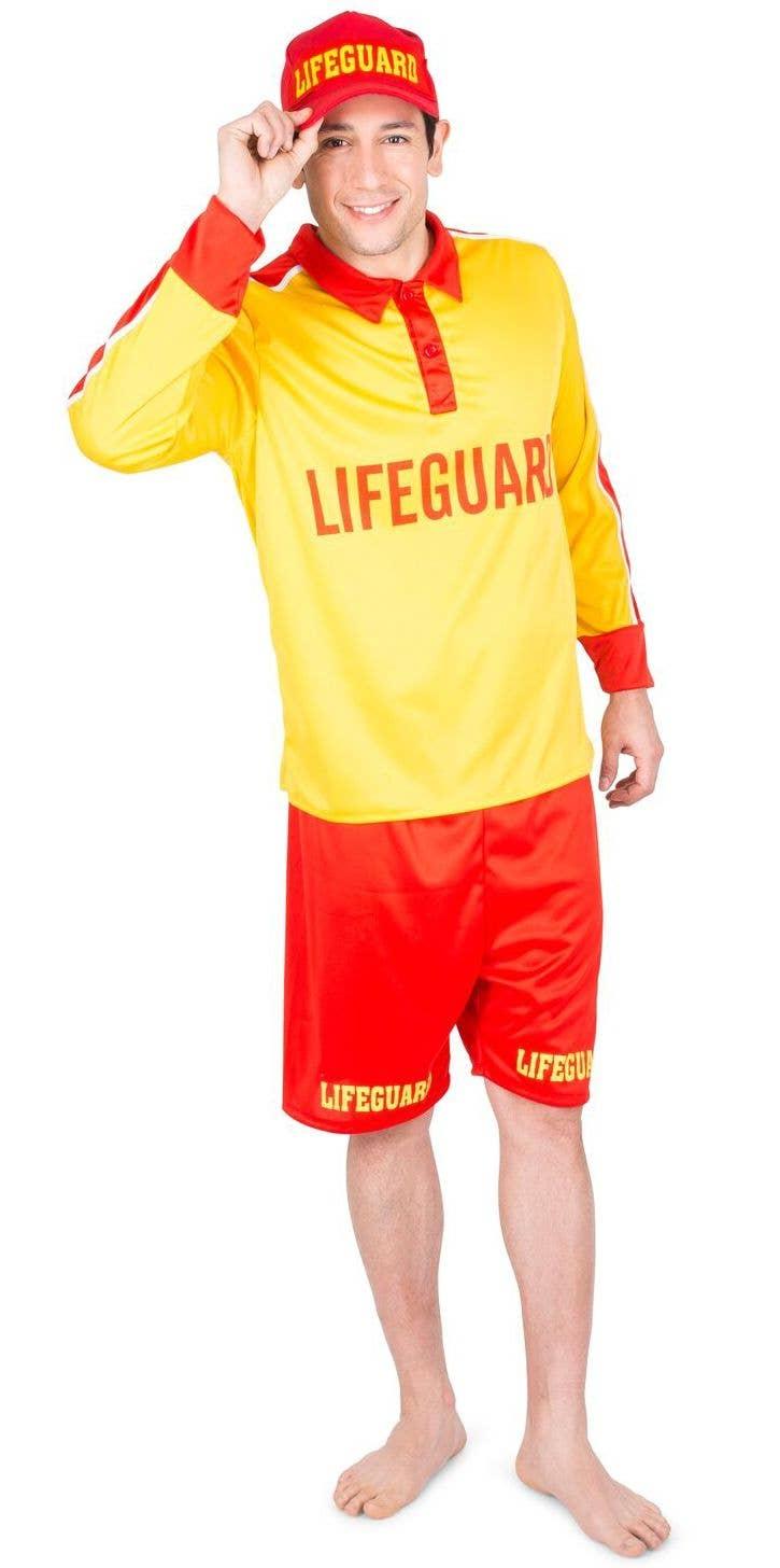 e18dd0fe46 More Views Of Mens Lifeguard Costume