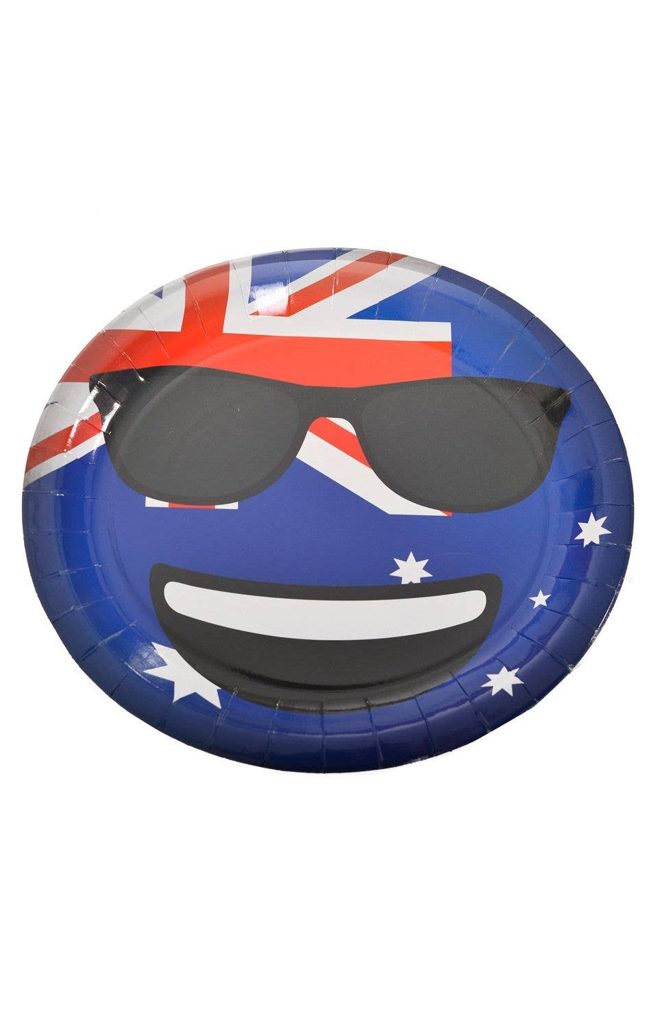 Cool Dude Emoji Oval Aussie Party Plates - 6 Pack