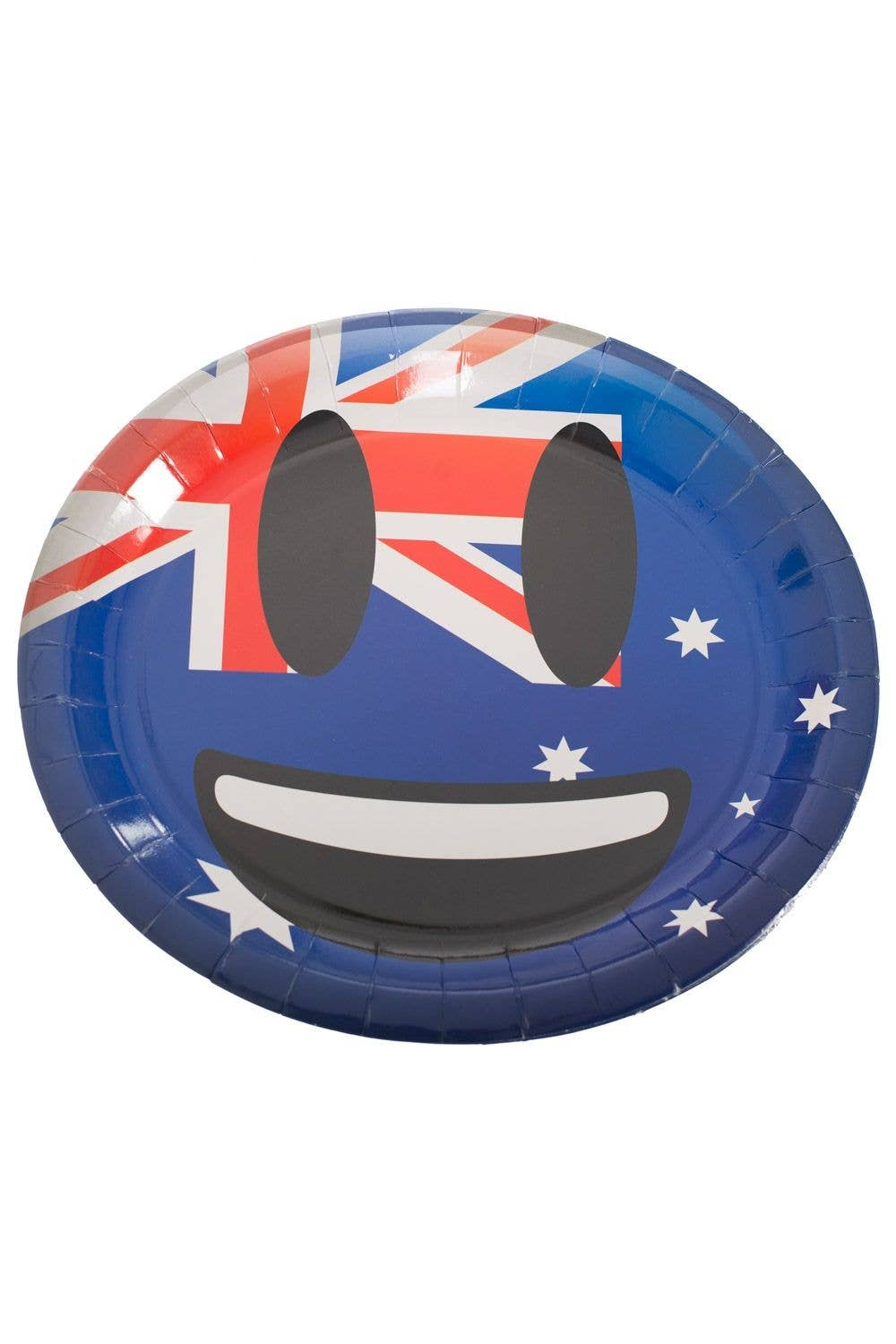 Smile Face Emoticon Emoji Aussie Flag Australia Day Large Paper Plates  sc 1 st  Heaven Costumes & Emoji Smiley Paper Plates | Australia Day Aussie Flag Party Plates