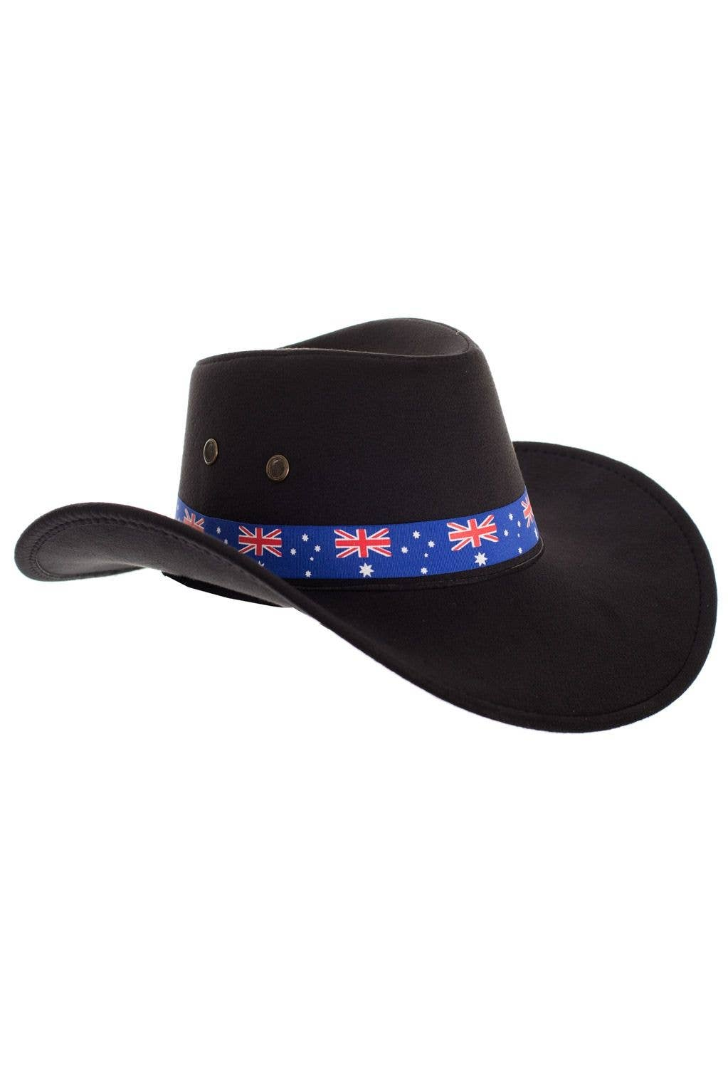 0bec677e9 Black Akubra Style Australia Day Cowboy Hat Costume Accessory
