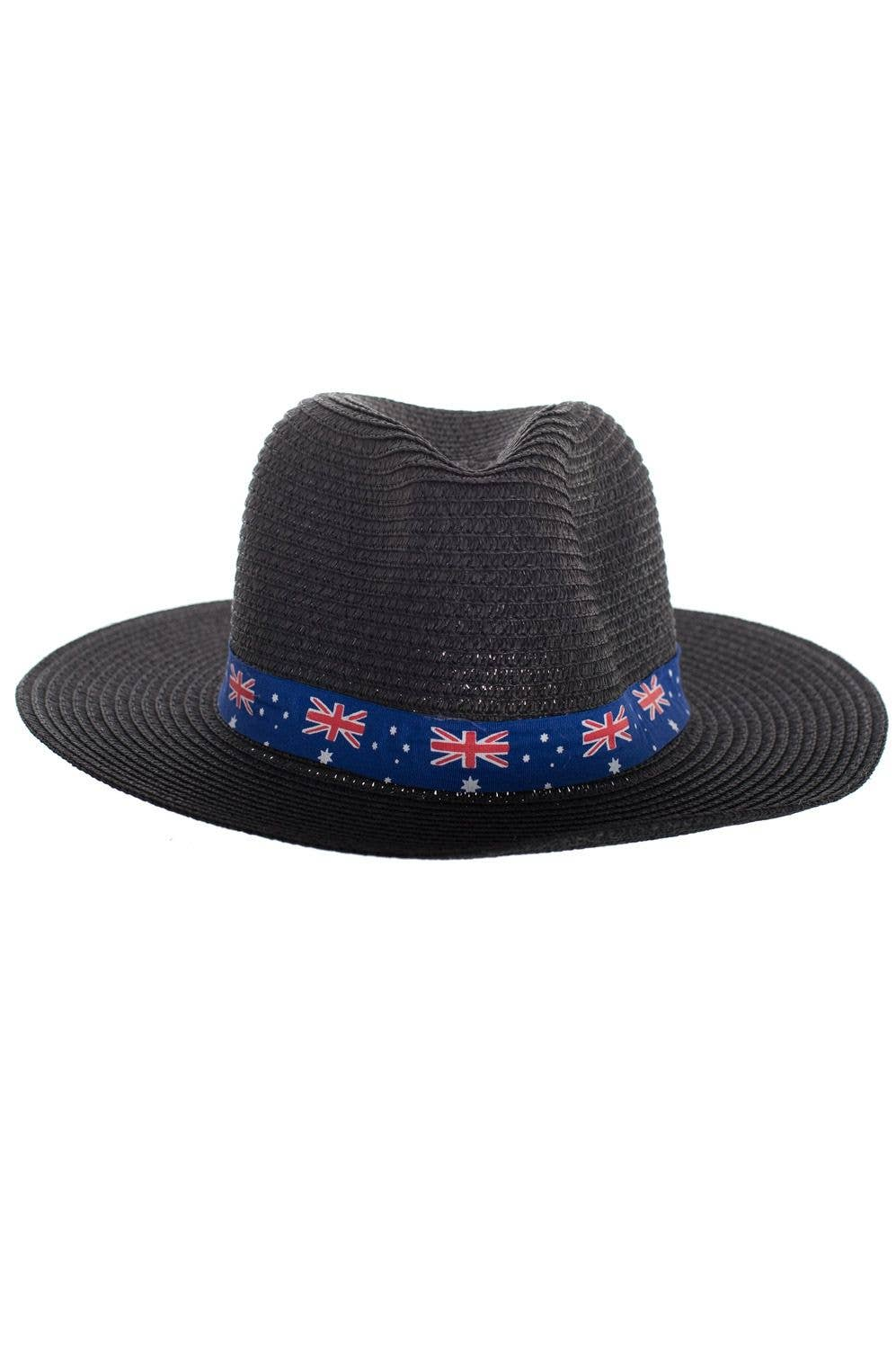 bd855521170 Black Coloured Wide Brim Australia Flag Sun Hat