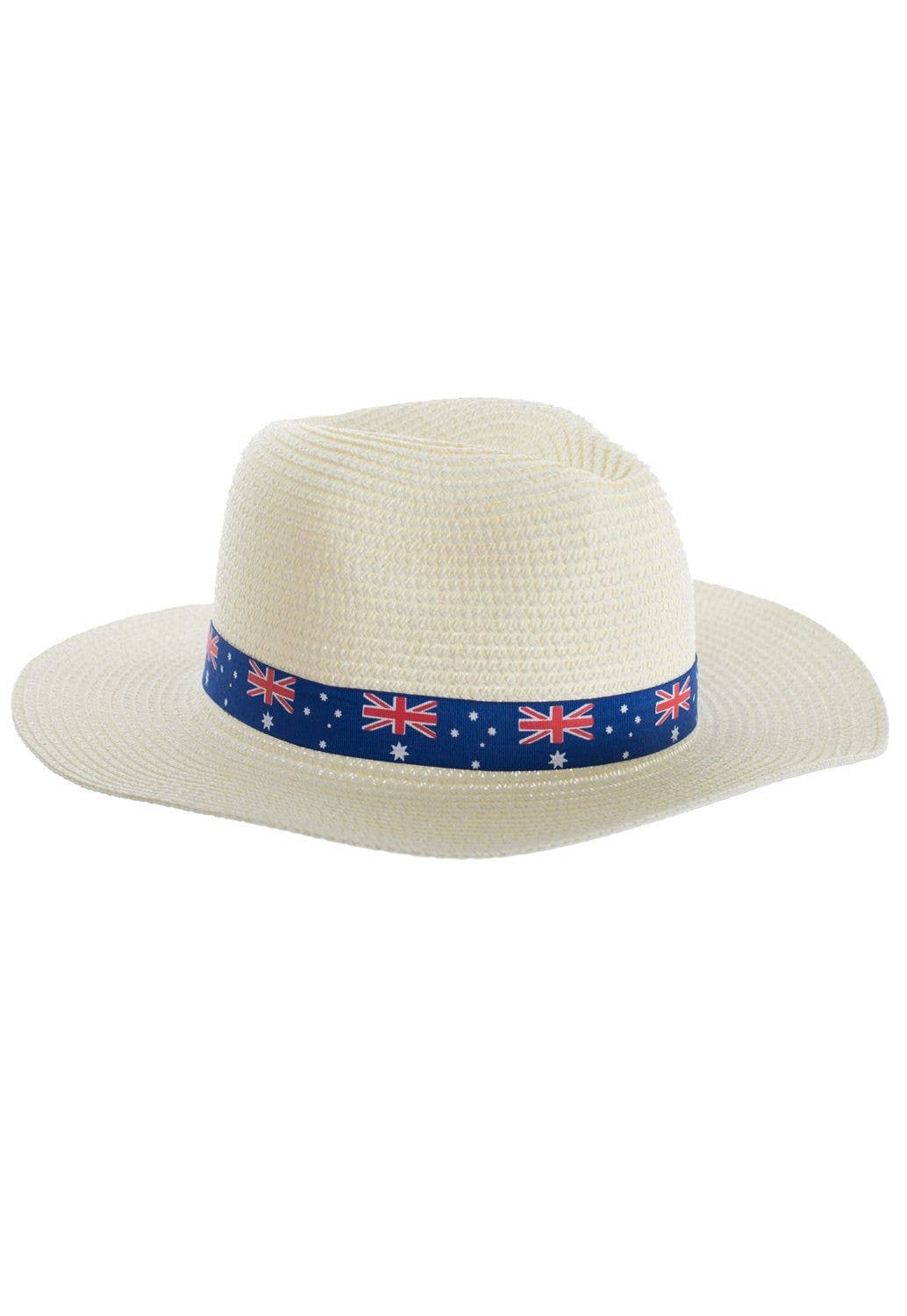 445c6af3cc0 Cream Coloured Wide Brim Australia Flag Sun Hat
