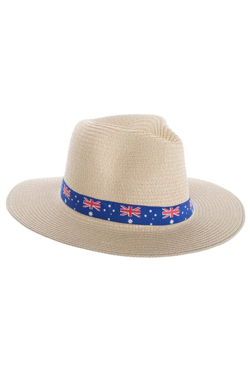 0d3d1907a Australia Day Woven Wide Brim Tan Sun Hat
