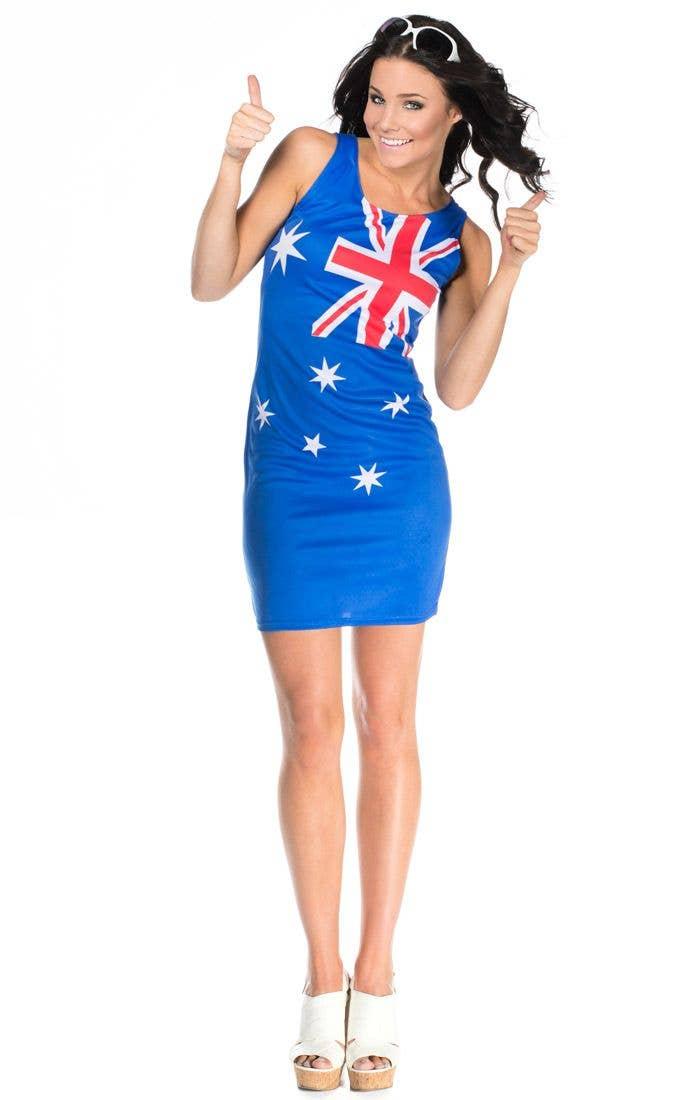 More Views of Womenu0027s Australia Day Dress  sc 1 st  Heaven Costumes & Australian Flag Womenu0027s Aussie Dress | Australia Day Dress Costume
