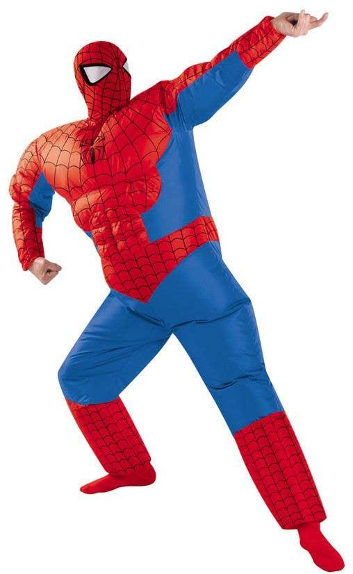 Inflatable Spiderman Men S Costume Men S Spiderman Superhero Costume