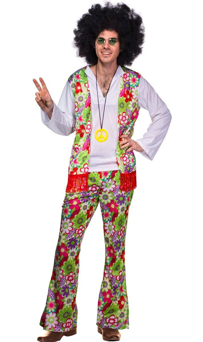 men's 70's cool peace hippie costume | retro & hippies